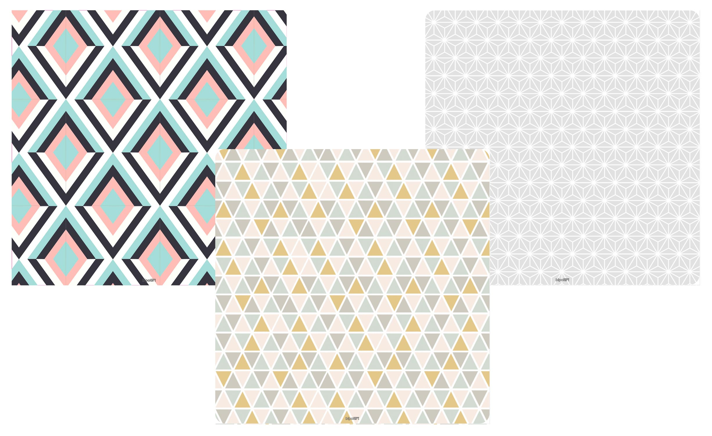 3 Tops magnétiques 40X40cm coloris style Scandinave