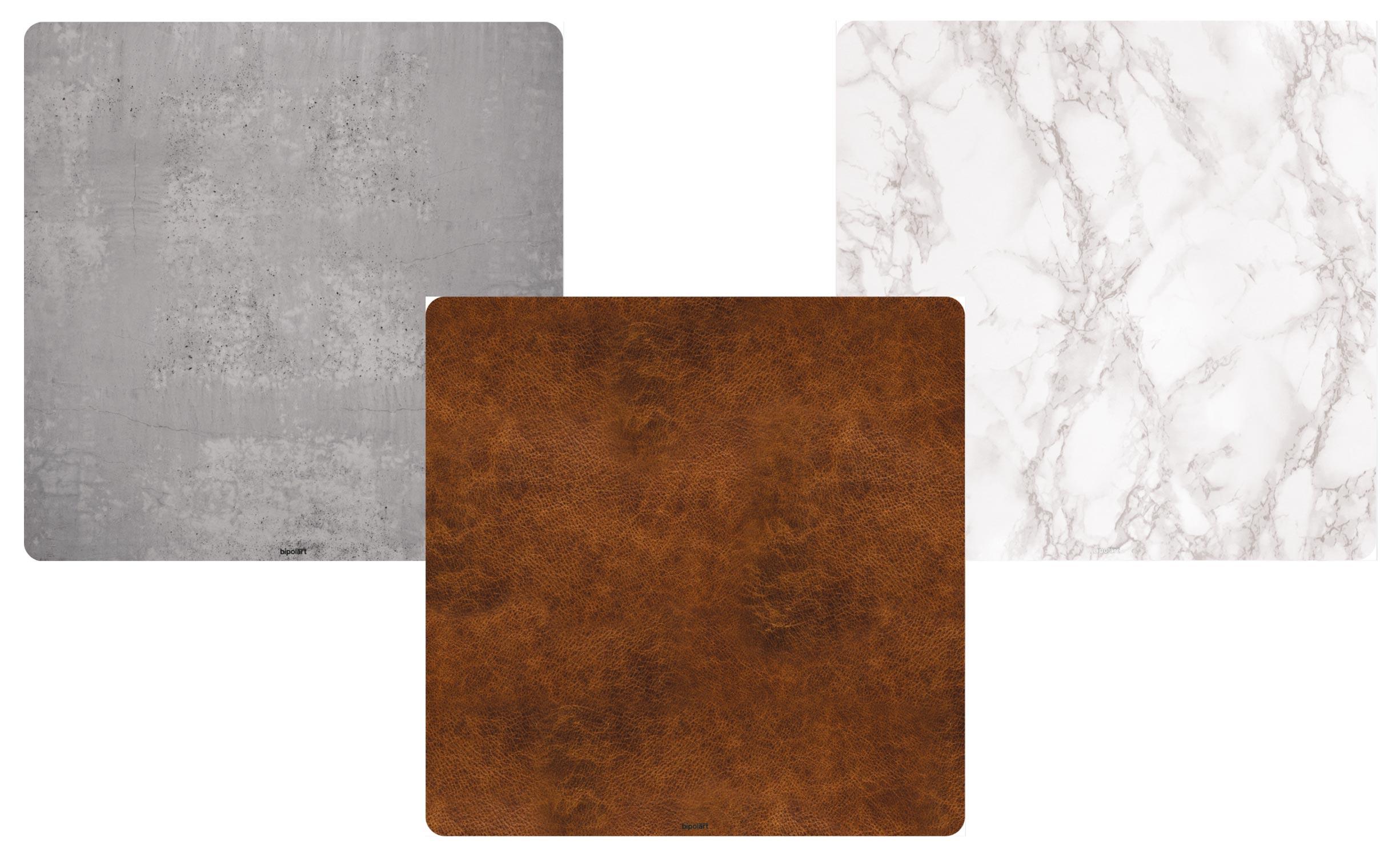 3 Tops magnétiques 40X40cm coloris style Textures