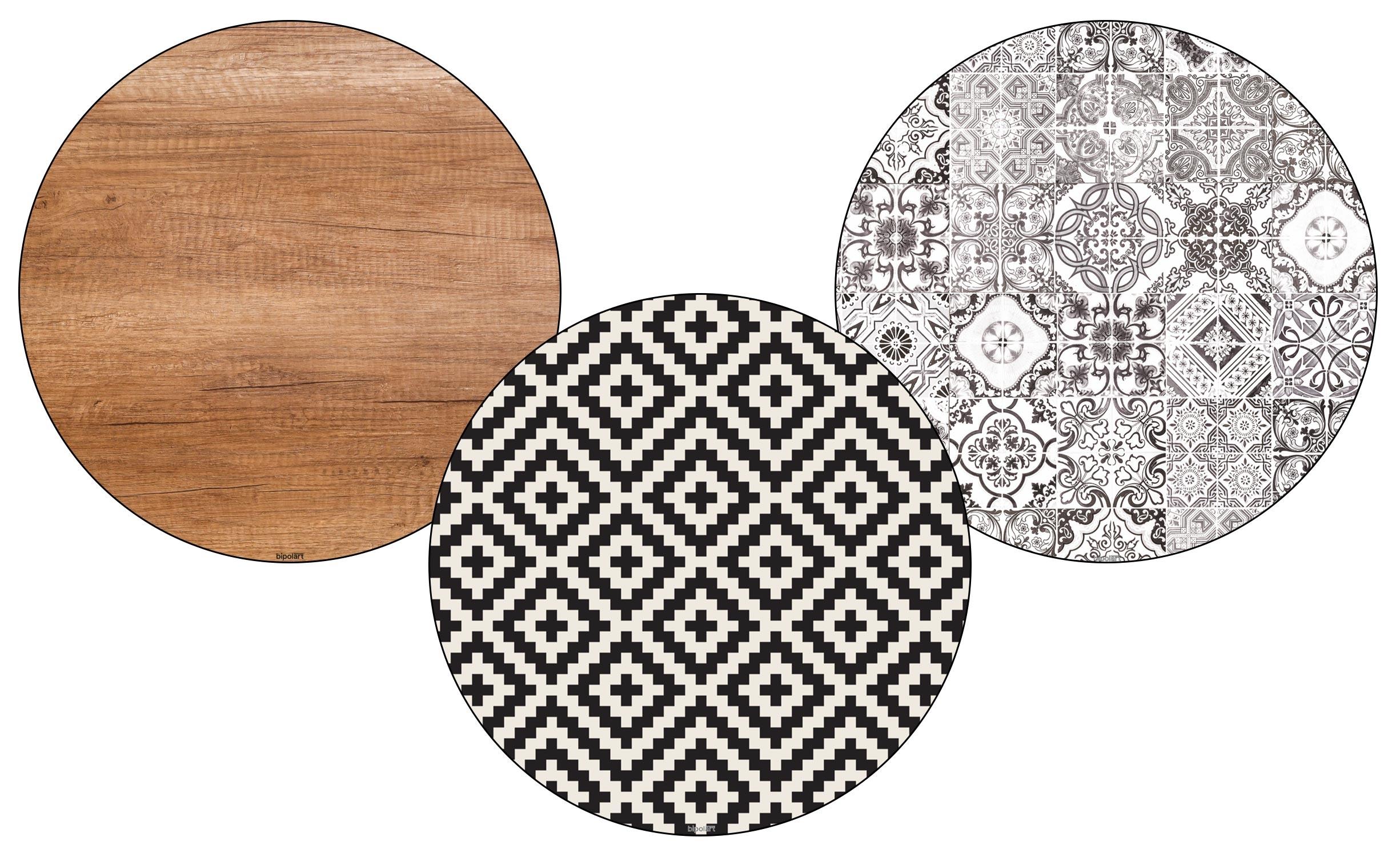 3 Tops magnétiques D45cm coloris style Natural