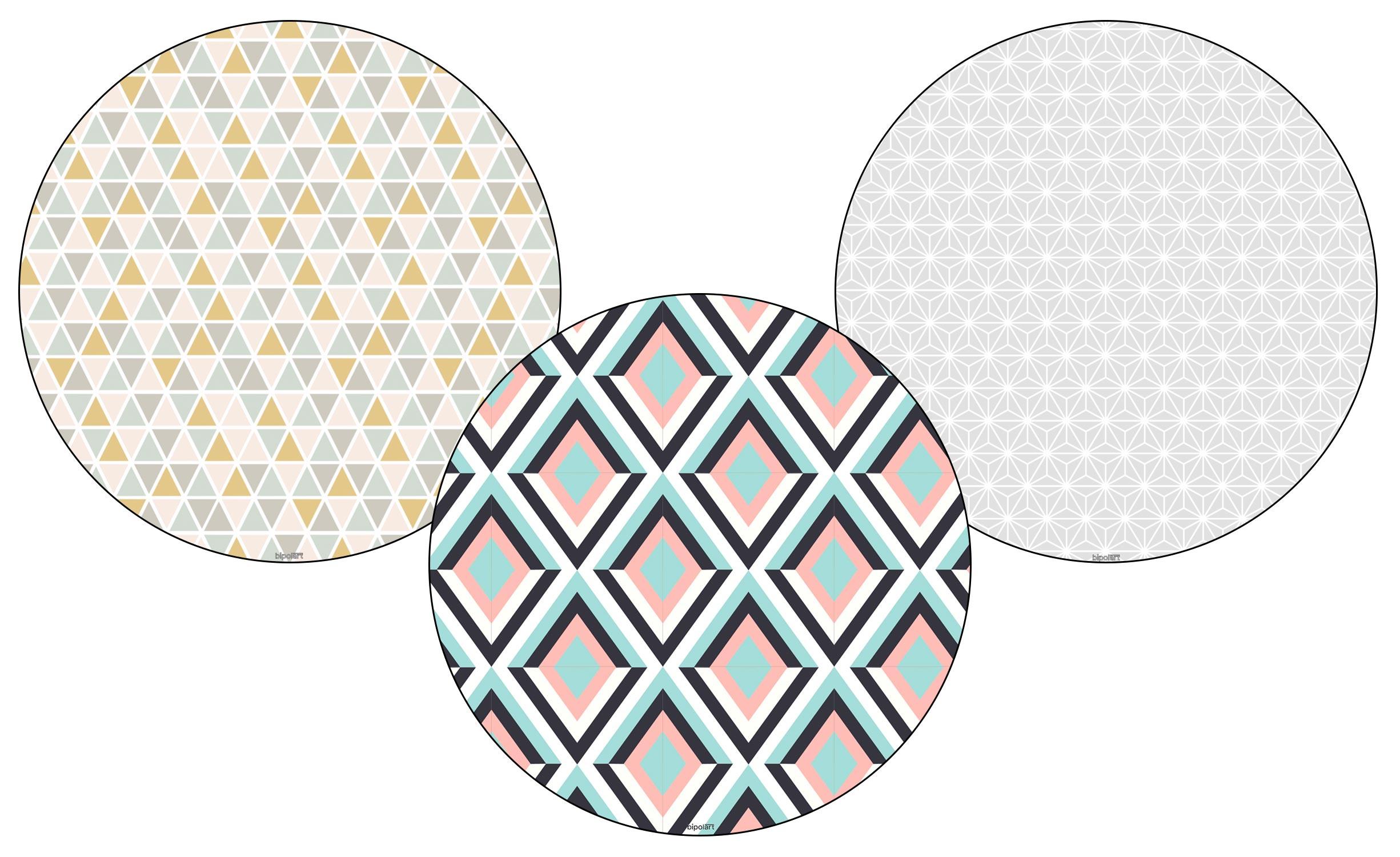 3 Tops magnétiques D45cm coloris style Scandinave