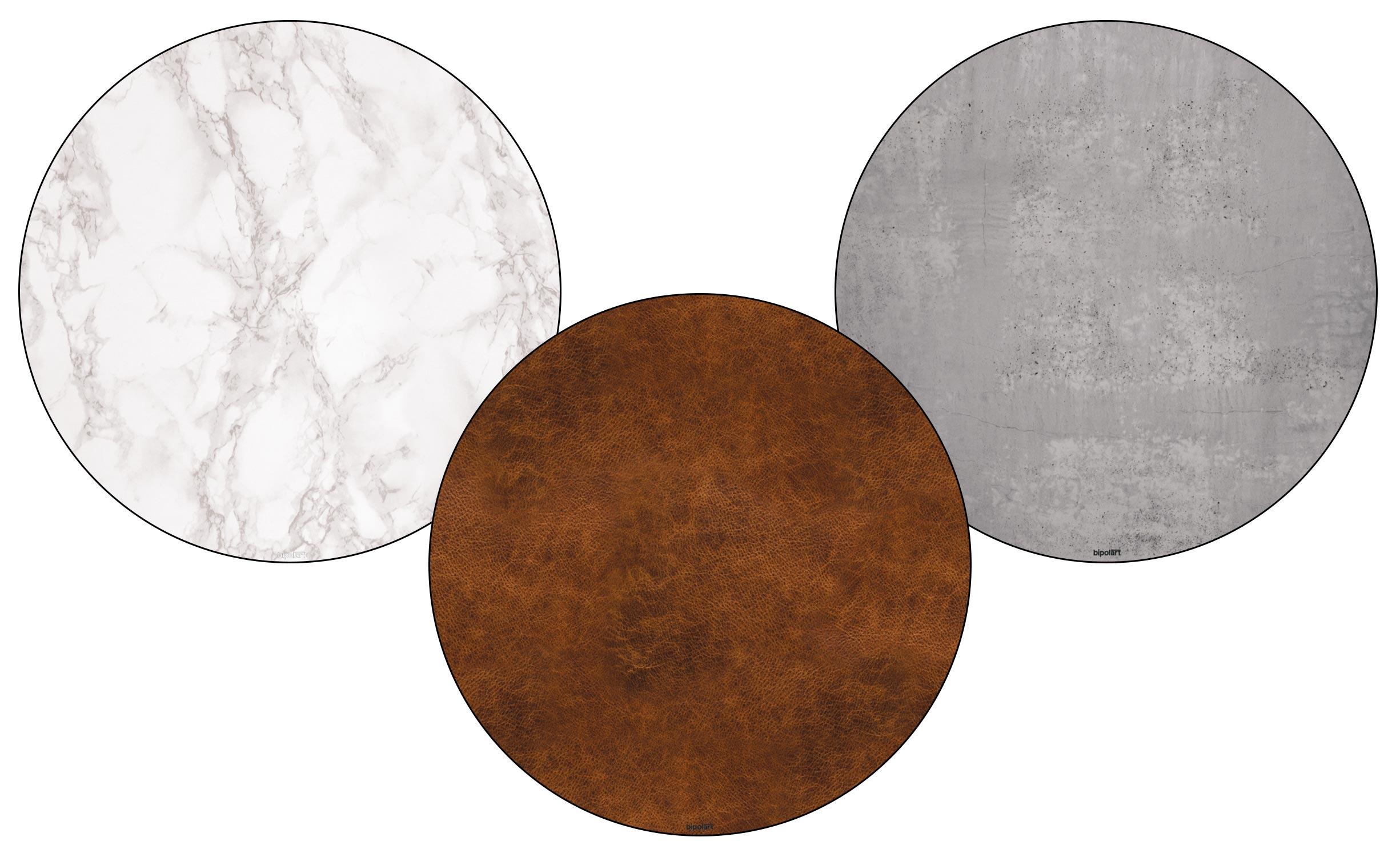 3 Tops magnétiques D45cm coloris style Textures
