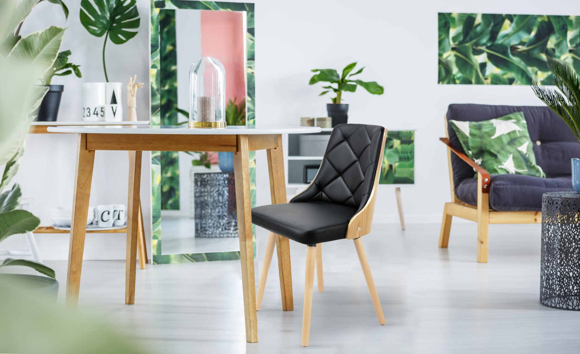 Lot de 2 chaises scandinaves Lalix Chêne Clair & Noir