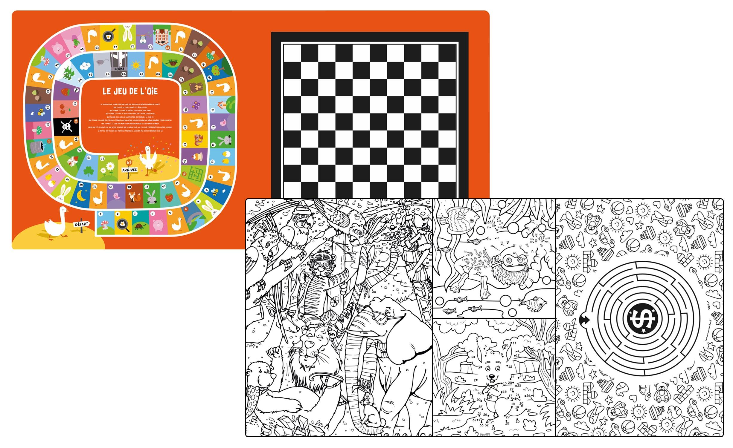 2 Tops magnétiques 120X60cm coloris style Kids