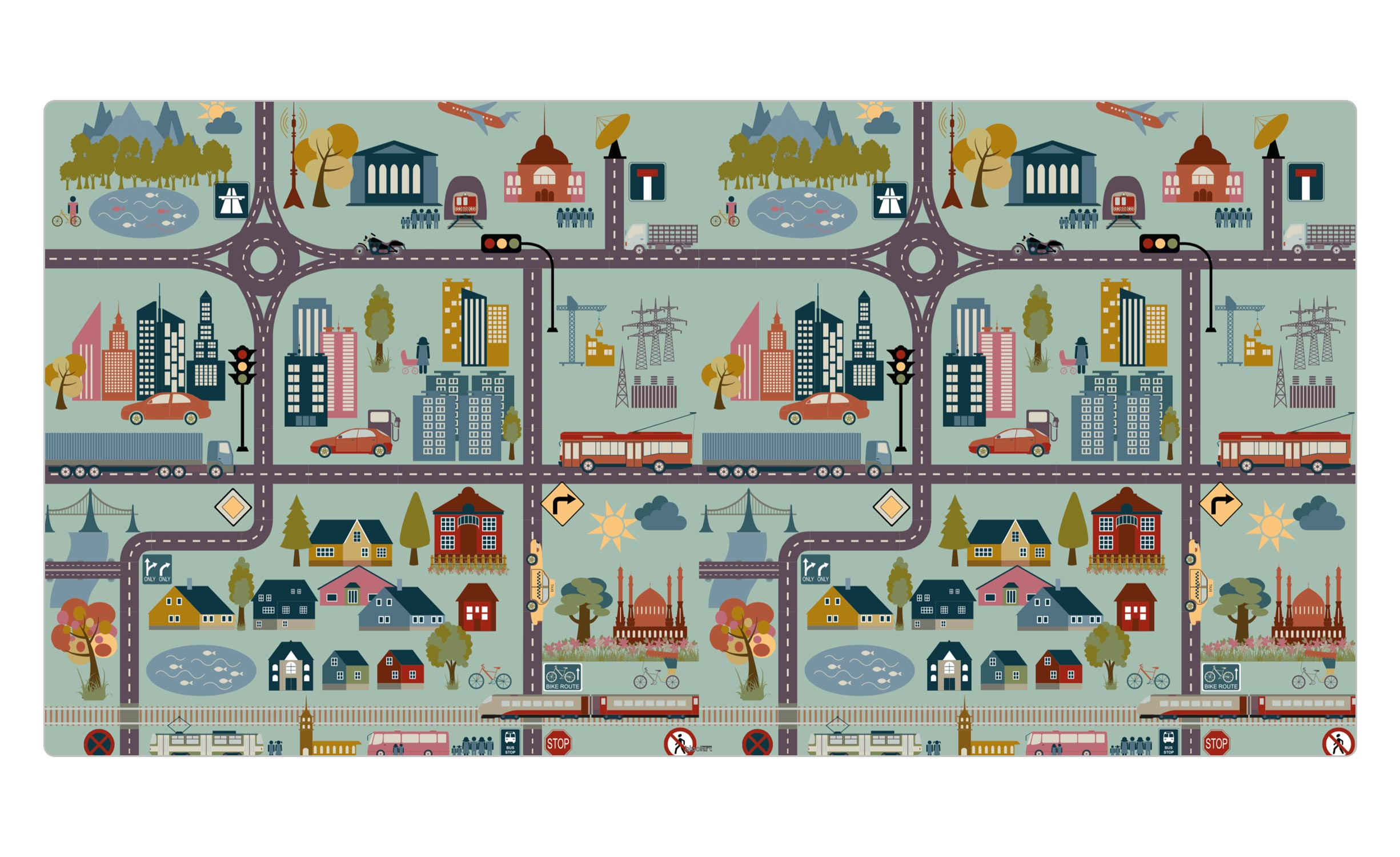 1 Top magnétique 120X60cm City Coloris CITY
