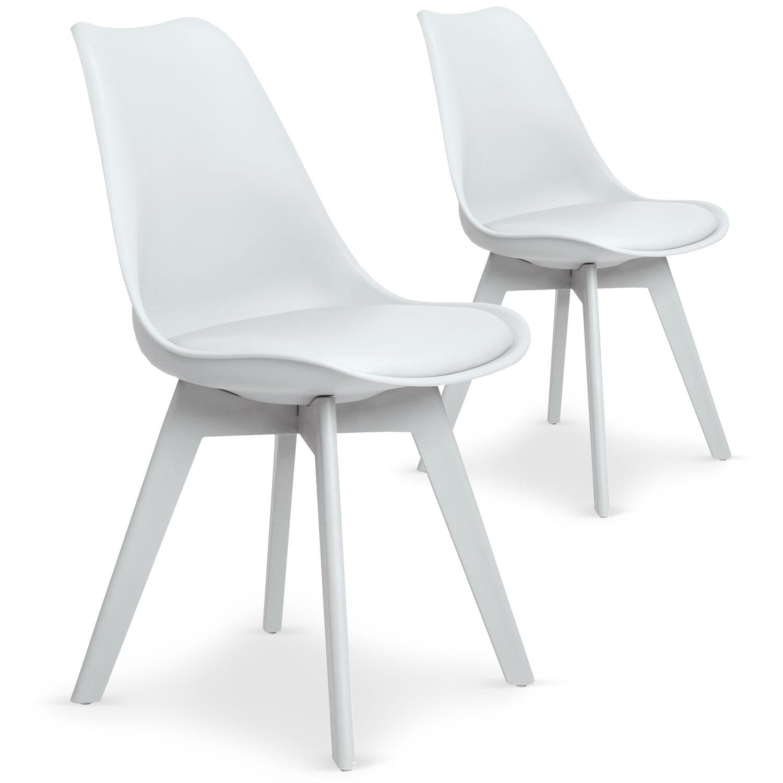Lot de 2 chaises Juno Blanc
