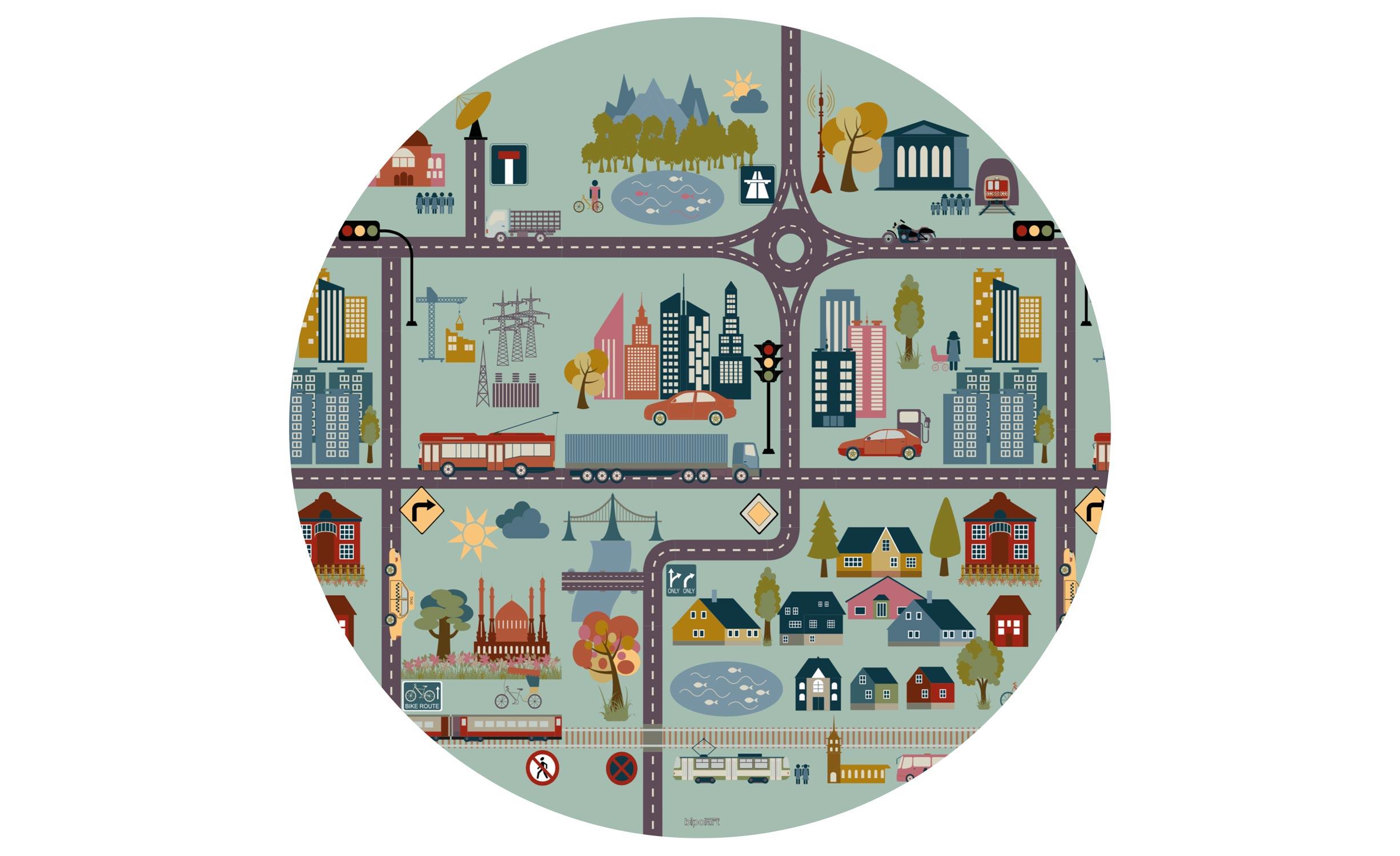 1 Top magnétique D90cm City Coloris CITY