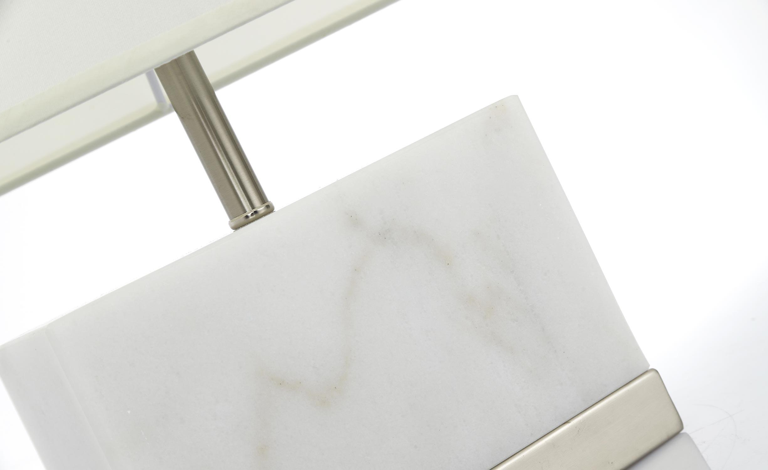 Lampe de table Elgira Marbre Blanc