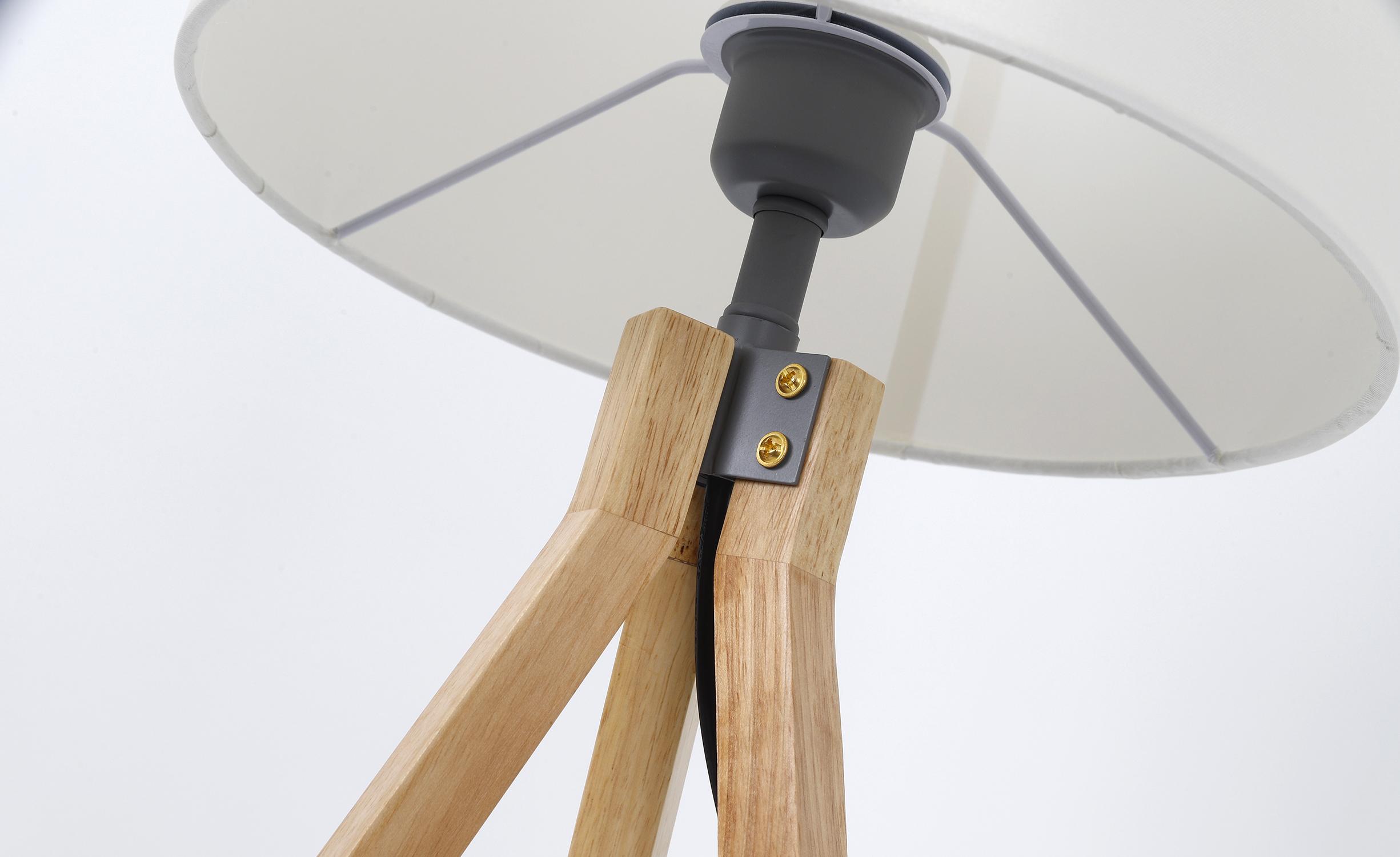 Lampe de table Wanda Bois et Blanc