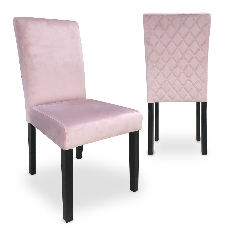Lot de 2 chaises Shaliman Velours Rose