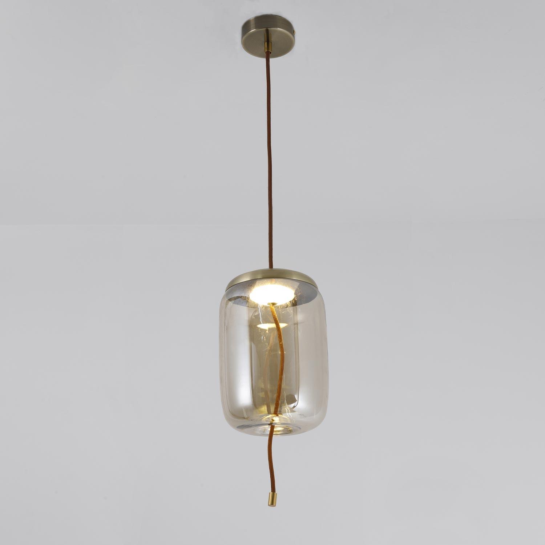 Suspension LED Odalys Verre Transparent fumé