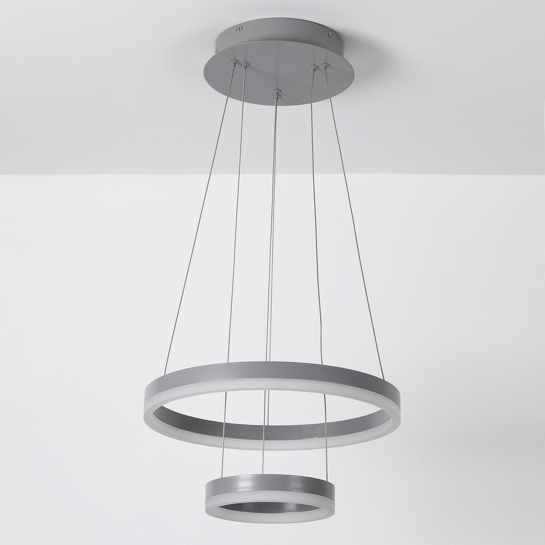 Suspension LED Polux Métal gris