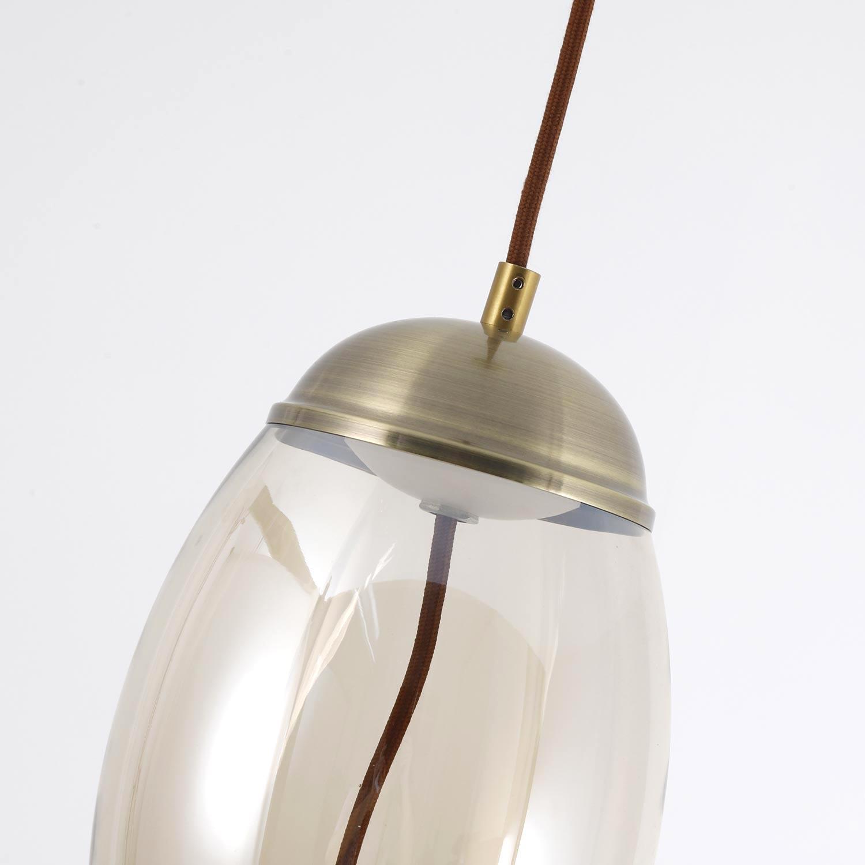 Suspension LED Odalia Verre Transparent fumé
