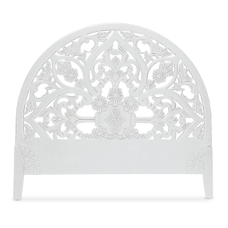 Tête de lit sculptée Demilune 160cm Bois Blanc
