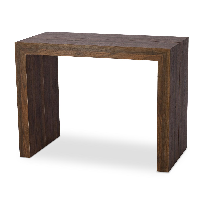 Table Console extensible Nassau XL Bois noisette