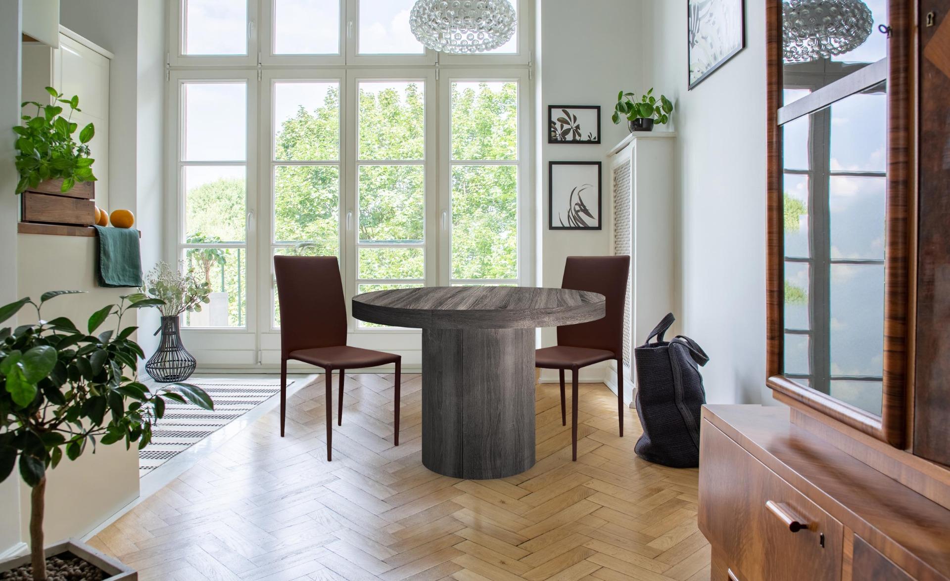 Lot de 6 chaises empilables Modan Simili (P.U) Marron
