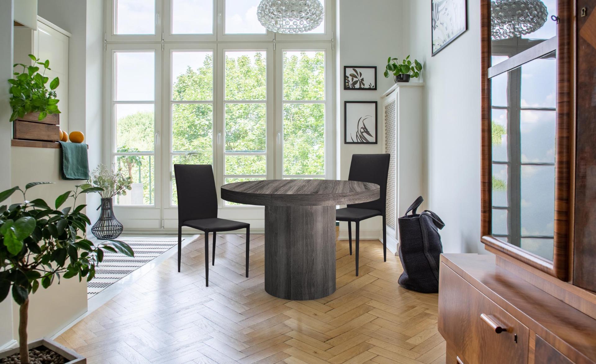 Lot de 6 chaises empilables Modan Simili (P.U) Noir