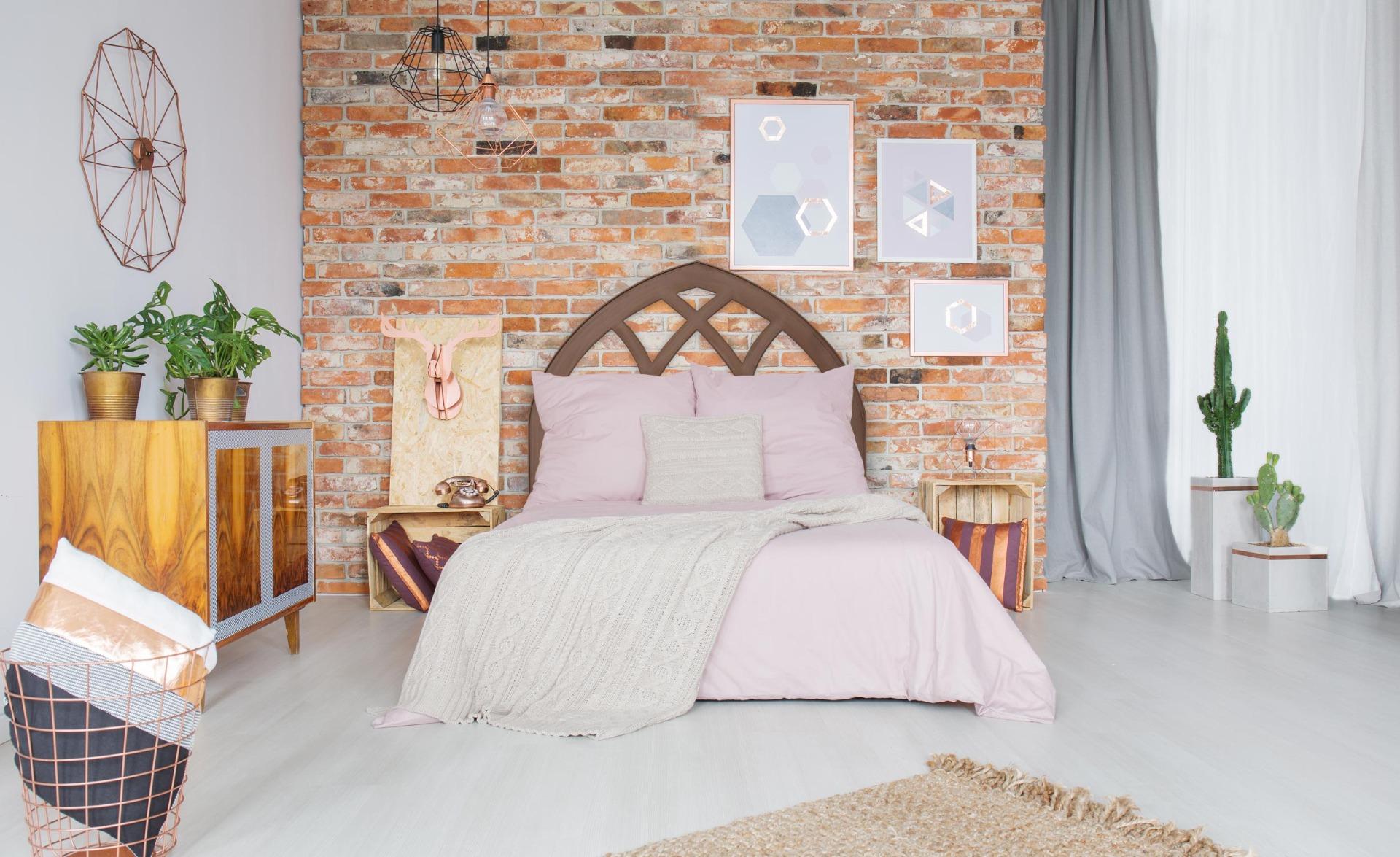 Tête de lit Aladin 140cm Bois Marron