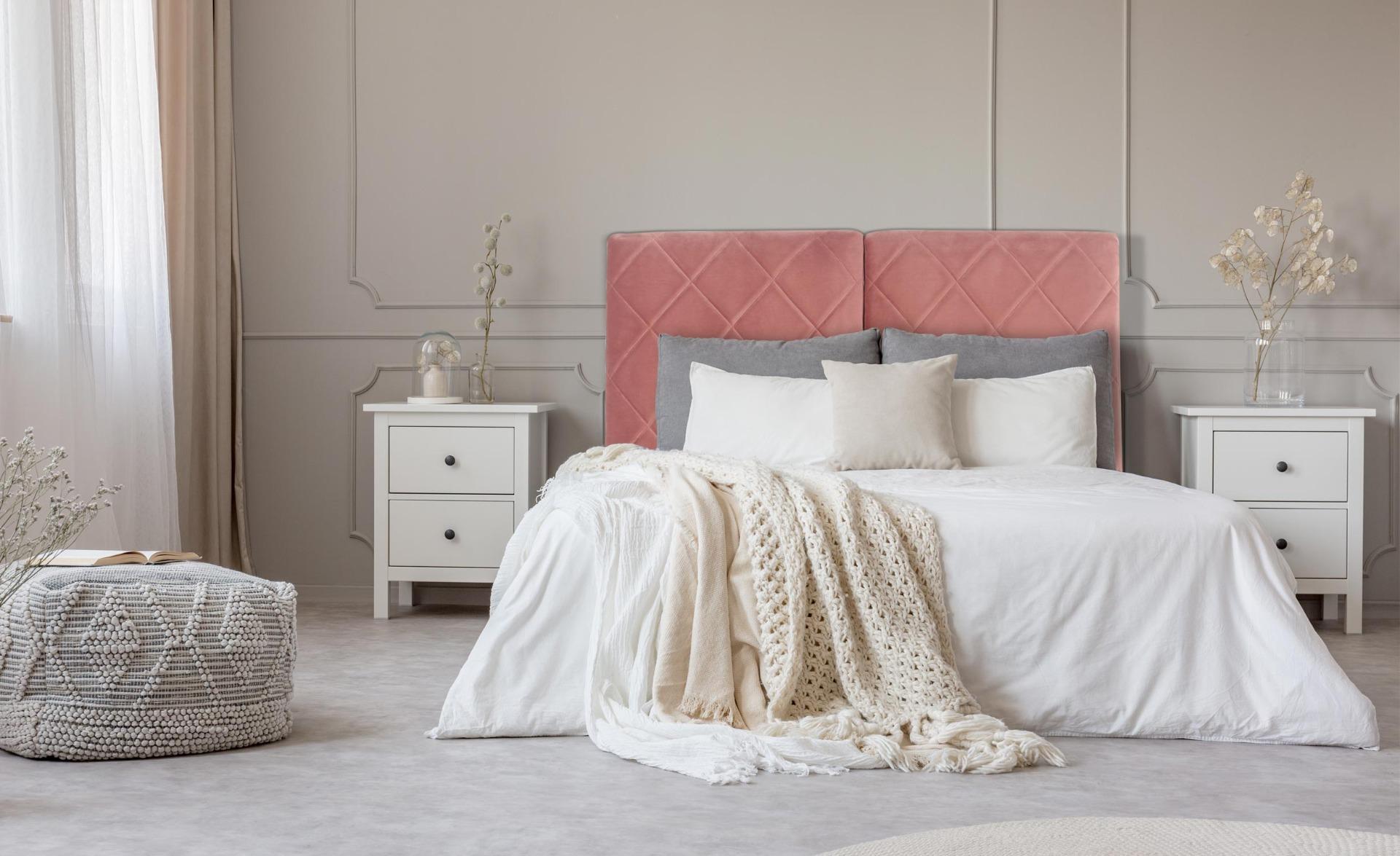 Tête de lit Apolline 140cm Velours Rose