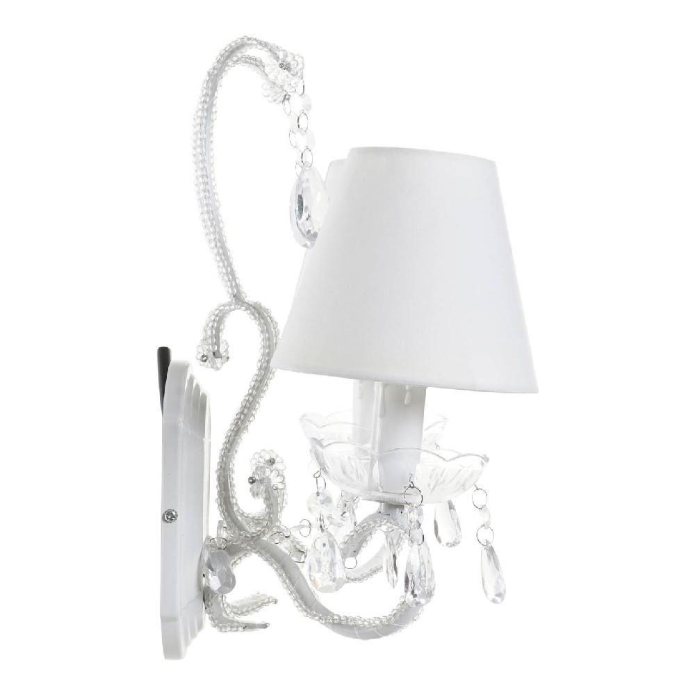 Applique murale 2 ampoules Latin Métal et Tissu Blanc