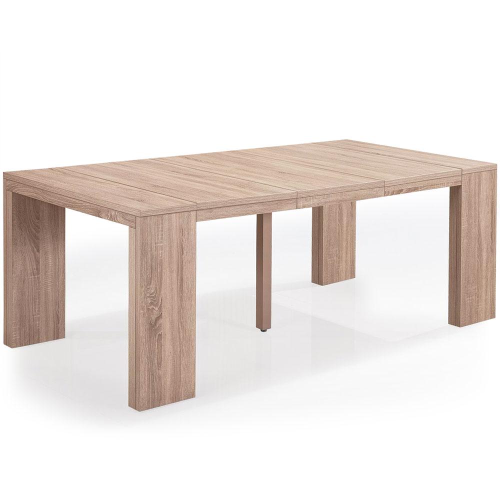 Table Console extensible Nassau L Chêne Clair