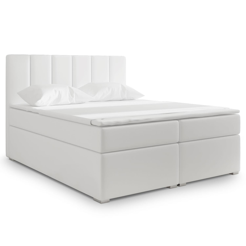 Lit Coffre Balero 180cm simili blanc
