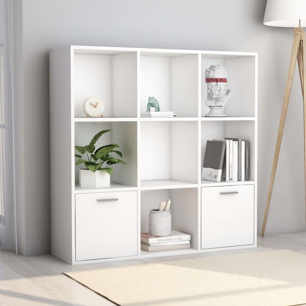 Bibliothèque Issou 98x98cm Blanc