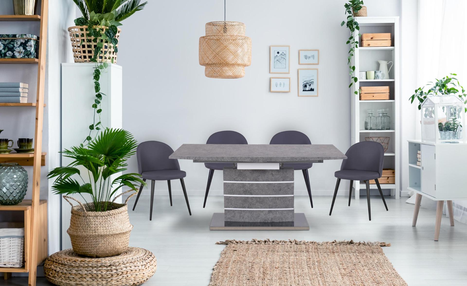 Table extensible Bilma Effet béton