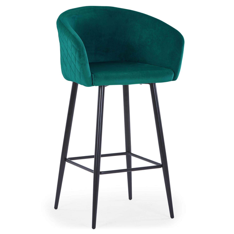 Chaise de bar Bobby Velours Vert