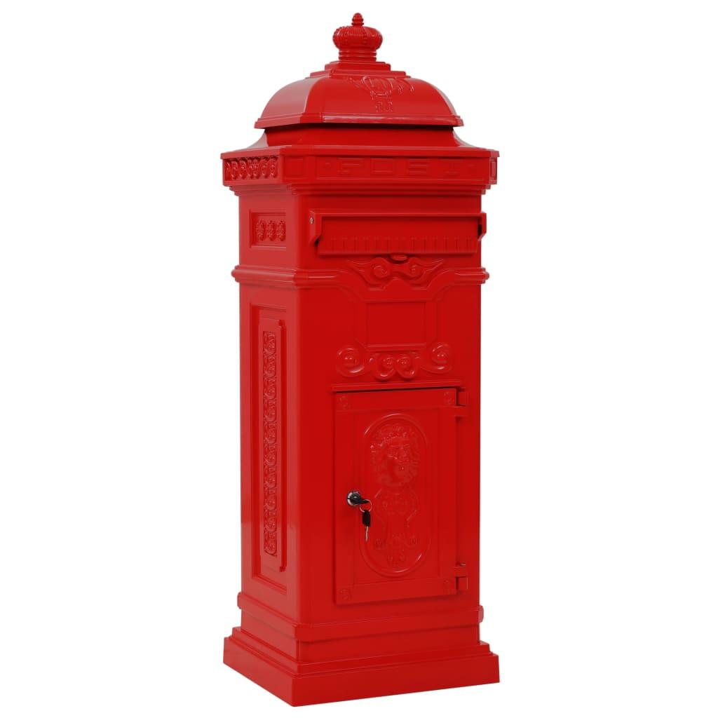 Boîte aux lettres Oscar Aluminium Rouge Vintage