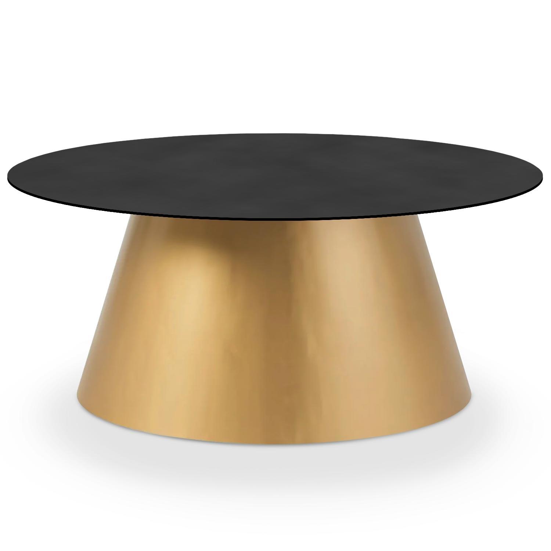 Table basse Braxton Bronze et Noir