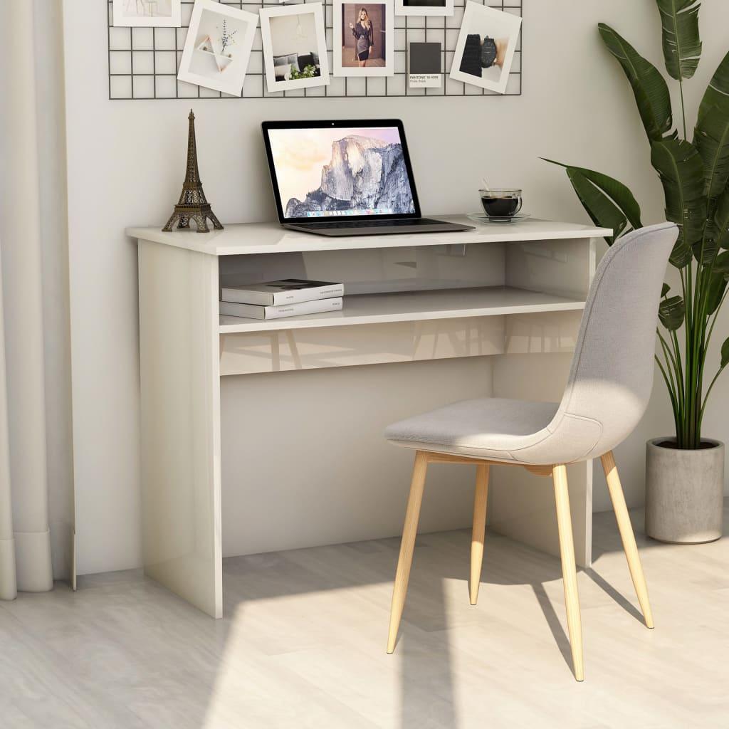 Bureau Eclamine Blanc brillant