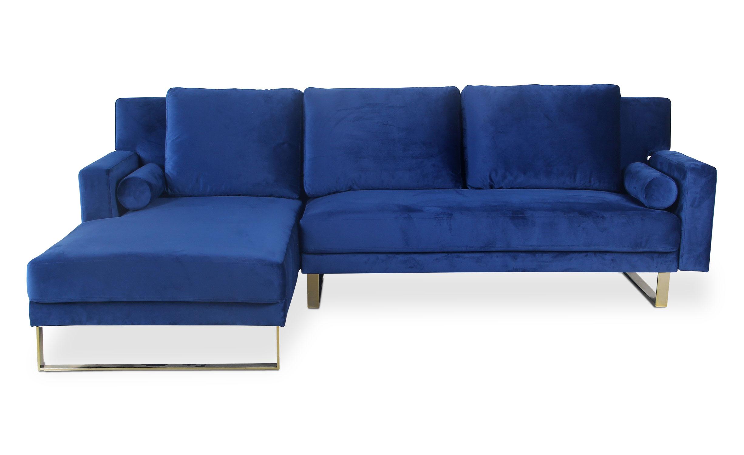 Canapé d'angle Nirvana Velours Bleu