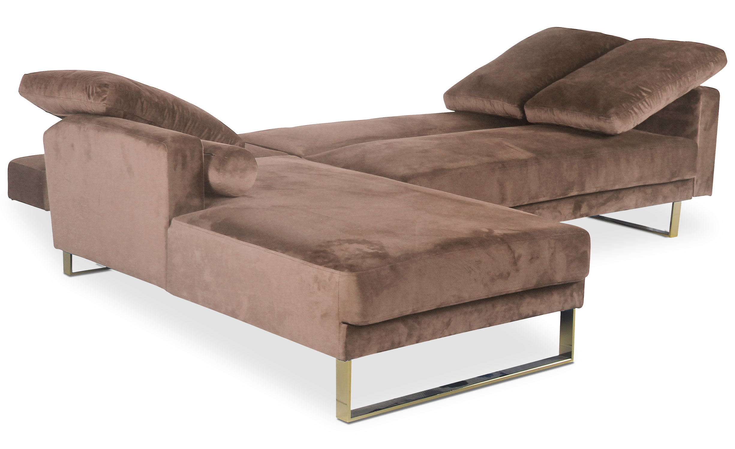 Canapé d'angle convertible Nirvana Velours Taupe