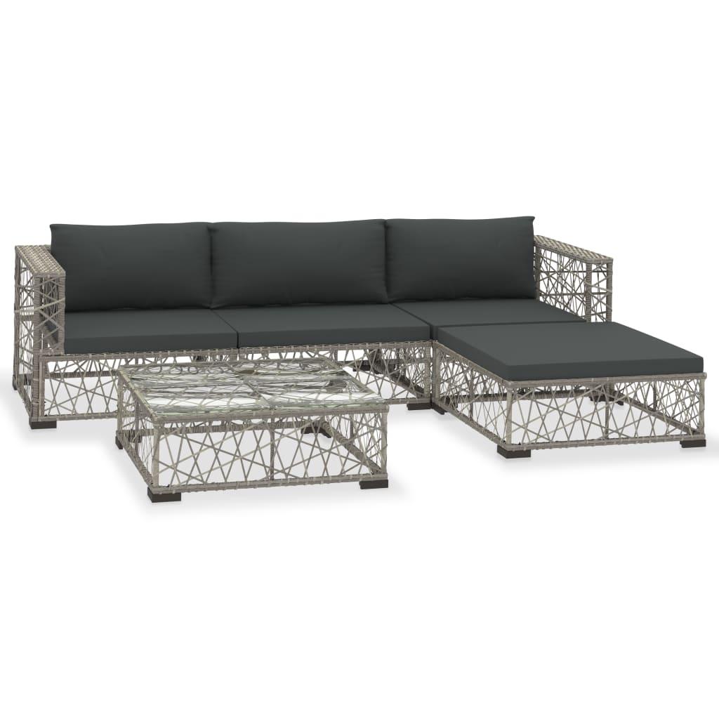 Canapé et table basse d'extérieur Kondo Résine Gris