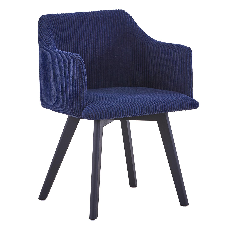 Chaise style scandinave Candy Velour Bleu