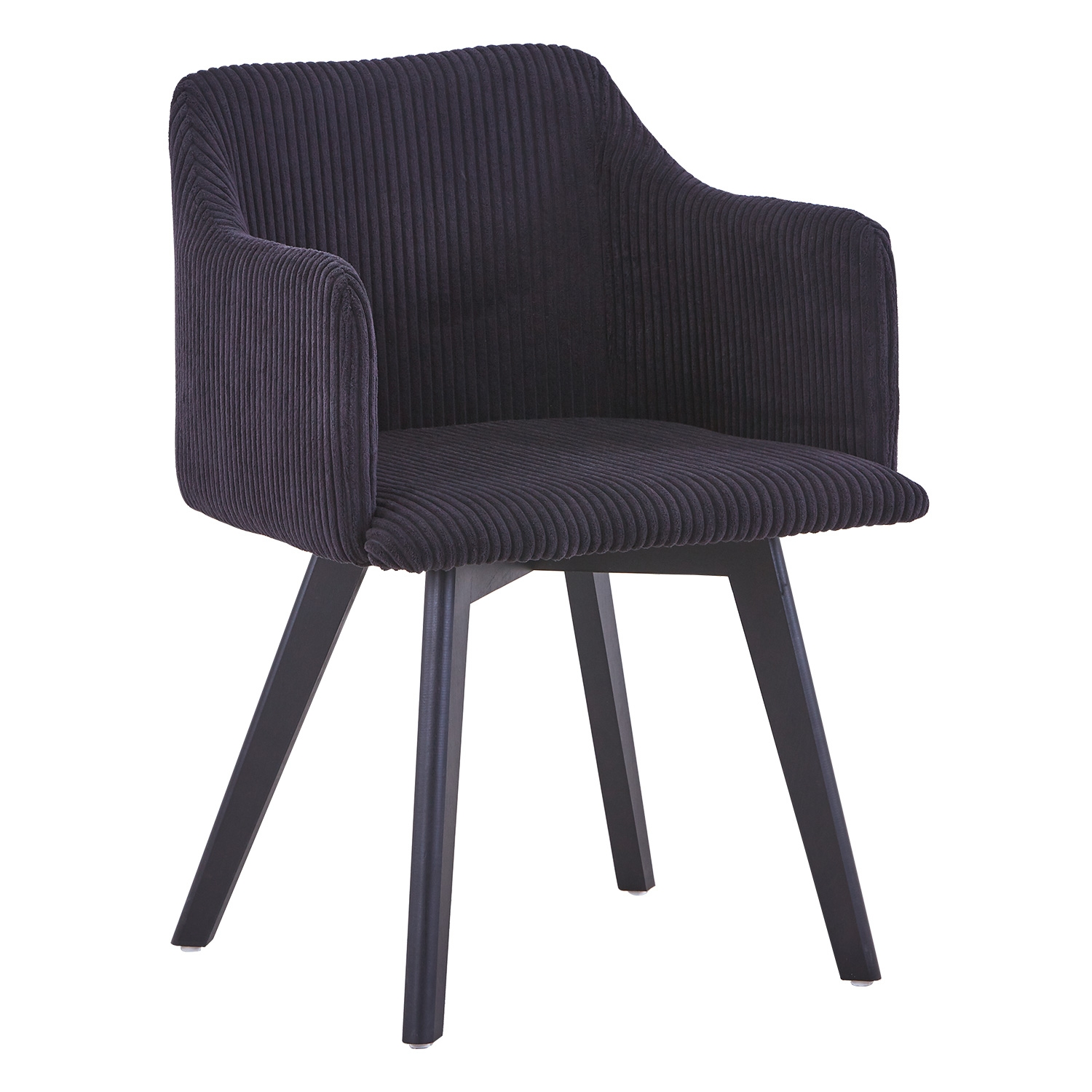 Chaise style scandinave Candy Velour Noir