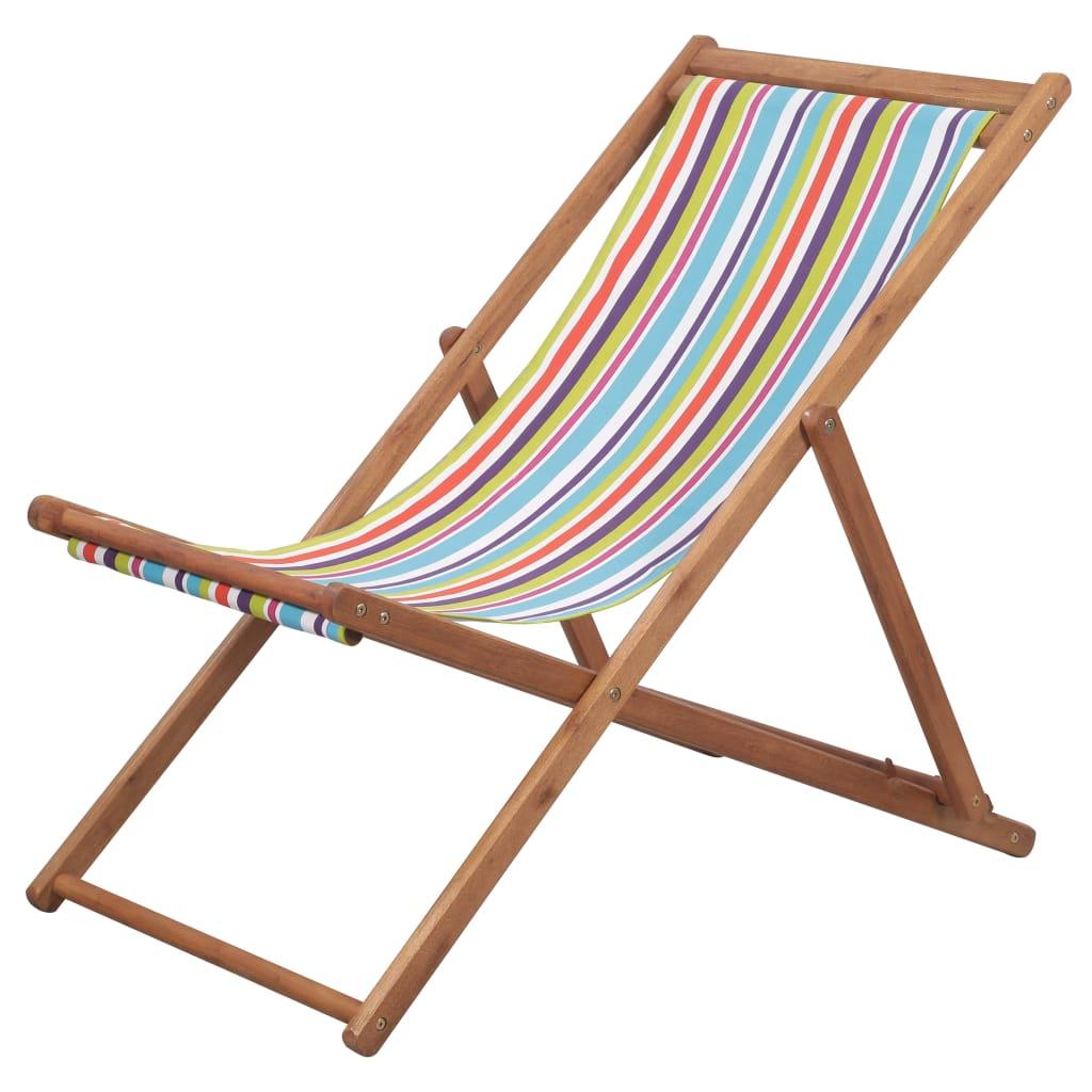 Chaise de jardin Alric Bois chilienne Tissu Multicolore