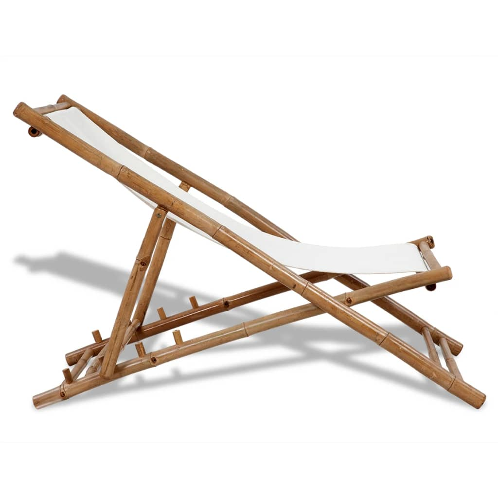 Chaise de jardin Bambou Alara Blanc