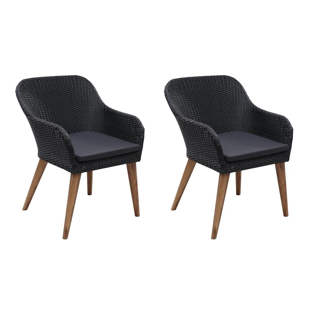 Chaise de jardin Jasmin Résine tressée Noir