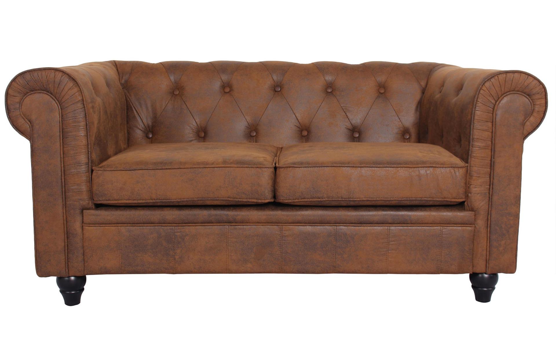 Grand canapé 2 places Chesterfield Vintage