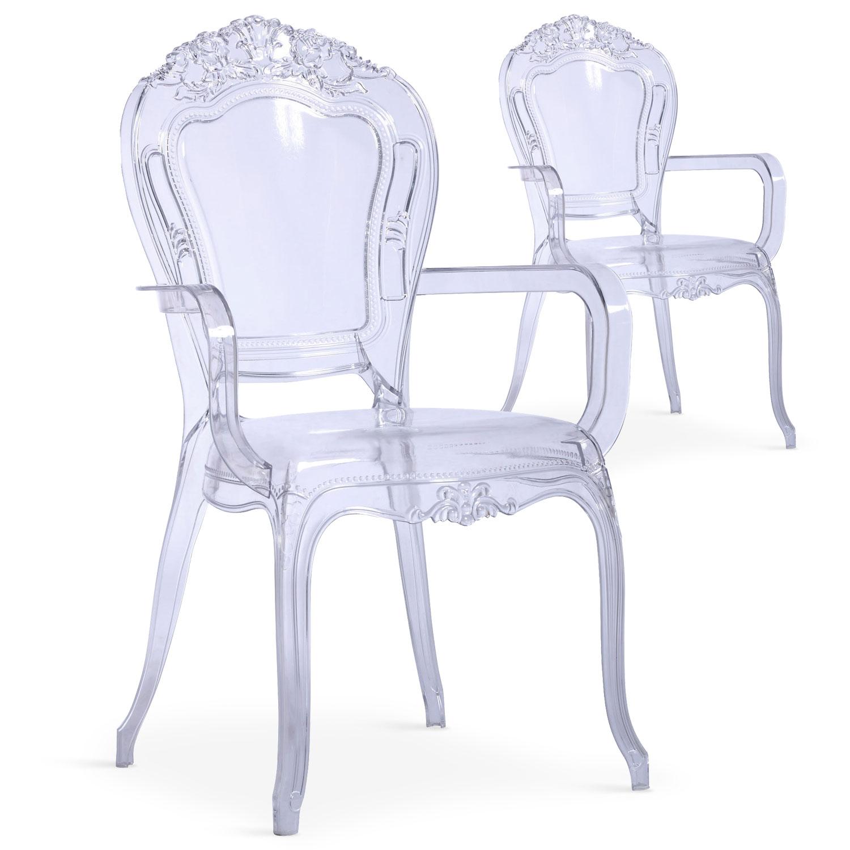 Lot de 2 chaises royales Cosy Crown transparent