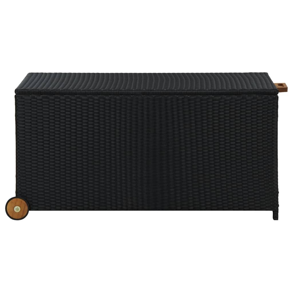 Coffre de jardin Taco 120cm Résine tressée Noir