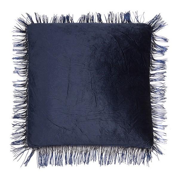 Coussin Frangoli Velours Bleu