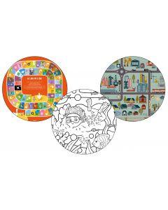 3 Tops magnétiques D45cm style Kids Coloris STYLE KIDS