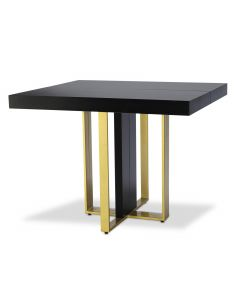 Table extensible Teresa Gold Noir pieds Or