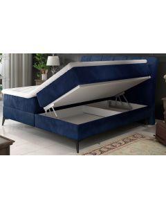 Lit Coffre Aderito 160cm Velours Bleu