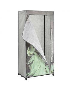Armoire avec compartiments New York Tissu Noir