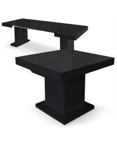 Table extensible Mustang Noir laqué de 100 à 250cm