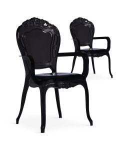 Lot de 2 chaises royales Cosy Crown Plexi Noir