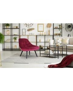 Lot de 2 fauteuils Danios Velours Rouge
